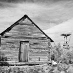 Abandoned Cabin with Windmill Platform by Rich Bergeman