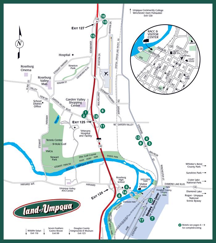 2014 Roseburg Visitors MAP small