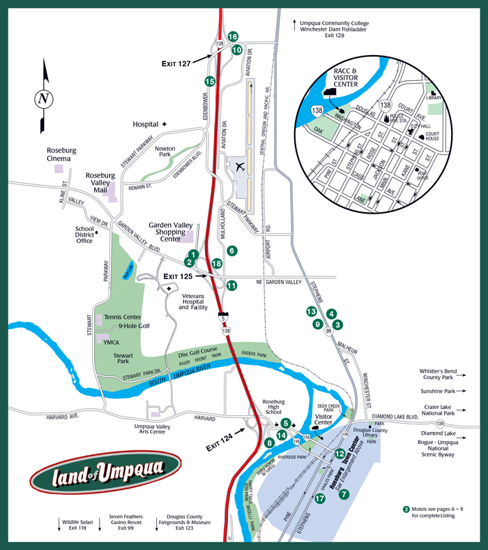 2014 Roseburg Visitors MAP small